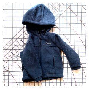 Columbia fleece hooded jacket